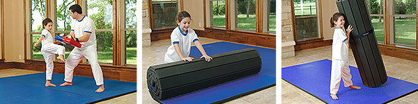 martial arts flexiroll home training mat